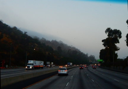 Somewhere around Griffith Park near LA, I believe. And it was foggy or smoggy up on the hill!