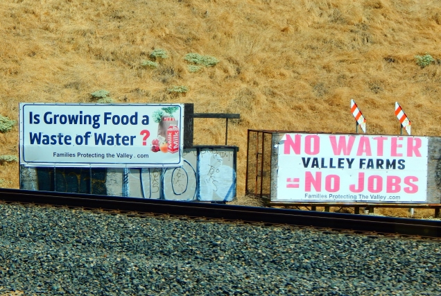 The California Water Wars continue - nothing seemed to have changed in the past couple of days.