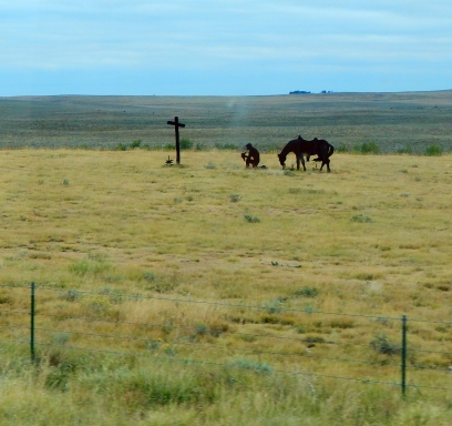 Some Colorado rancher has a flair for cowboy art - and faith!