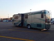 Jacks down at the windy Dodge City Walmart.