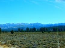 Beautiful Sierras along I-80.