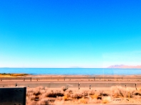 A sliver of Great Salt Lake as we drove by.