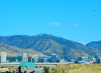 Salt Lake City as we approached.