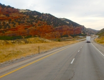 Interesting formations along I-80 as we approached Wyoming.