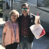 Lavonne bid farewell to son Craig at home to bid a wonderful hello to son Allen in Colorado! Sure enough, Allen greeted us with a bag full of Chik-fil-A!