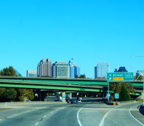 The Sacramento skyline.