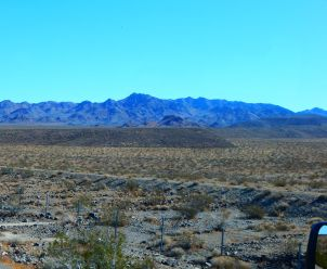 More scenic desert during the long drive.