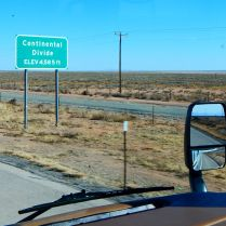 I crossed the Continental Divide in New Mexico.