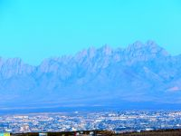 The very dramatic Organ Mountains rise far above the city.