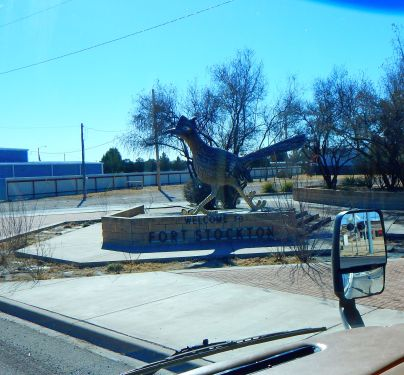 As I left Ft. Stockton I passed this huge Road Runner - they DO grow 'em big in Texas!