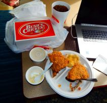 I fell off the wagon again! I just had to have some fried chicken.