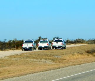 The Border Patrol seemed to be out in force. Here three units are parked on the trail as, perhaps, the agents were chasing down illegals.