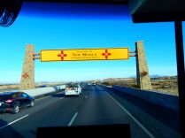 ...New Mexico greeted me with two giant welcomings!