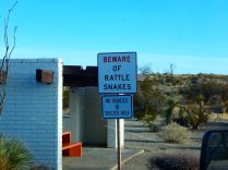 Shortly after entering NM I pulled into a rest area with this warning, a sure way to keep visitors out of the desert!
