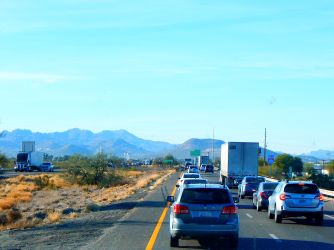 I arrived in Tucson just in time to join the commute!