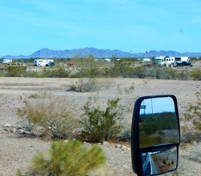 How some RVers spend winter in warm Quartzsite. - they camp right out on the desert.