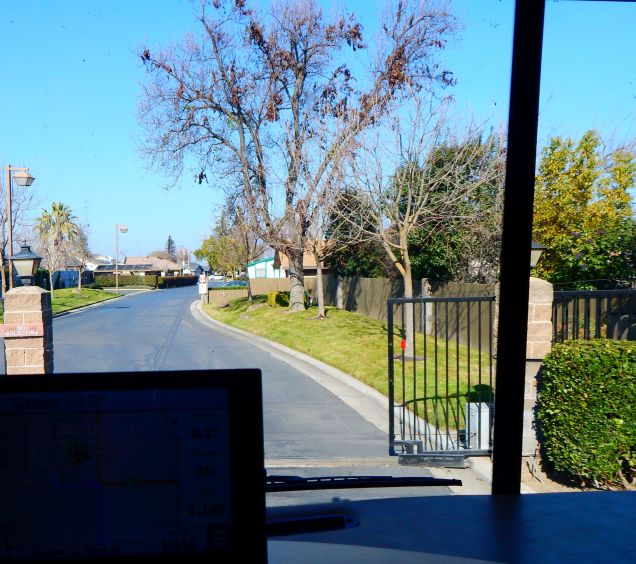 The gate opened wide for me as I pull into our gated community. I was back home!