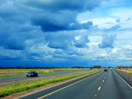 The skies were threatening most of the trip but we drove through very little rain. Darn it! We need lots more rain.
