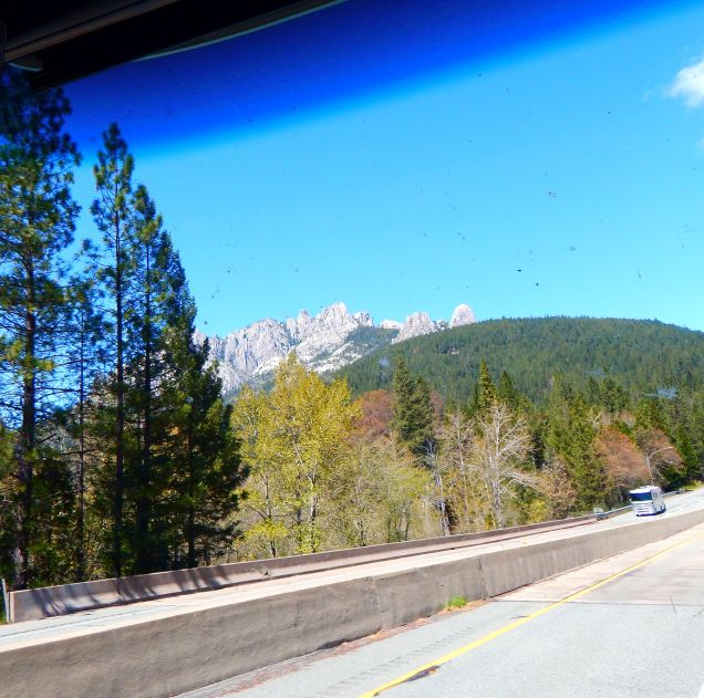 These are the Castle Crags which are quite a sight to behold along I-5 near Mt. Shasta.