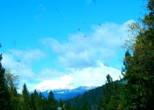 Mt. Shasta was pretty well hidden in the clouds this trip, but it looked like it had plenty of snow.