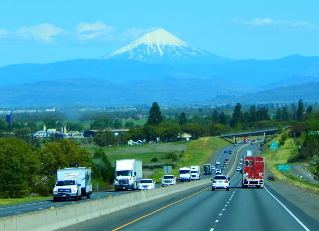 Mt. McLoughlin dominates a large portion of southern Oregon.