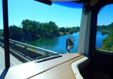 Crossing the Feather River east of Gridley.