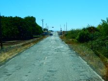 A truly rotten road west of Gridley as we headed for CA70.