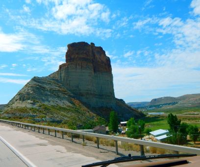 A lovely formation near the Green River area along I-80 in Wyoming.