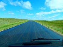 ...and from the very start and for 10 miles or so I drove over the South Dakota roadway of fresh oil!