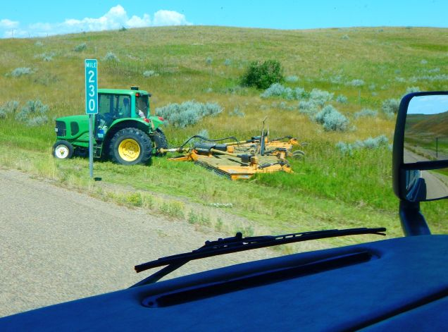"Cutting ""ditch hay"" as mentioned earlier. I read that it's not very desirable as it has trash in it; imagine that!"