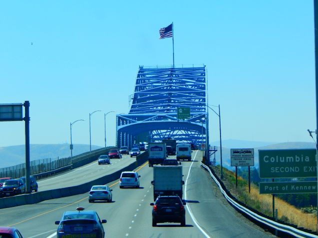 The first crossing of the Columbia in Washington.