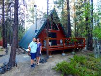 Jill and Craig's A-frame cabin in the woods. Very homey and cozy!