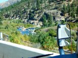 The scenic Truckee River along I-80 in Kalifornistan near Nevada.