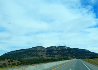 Beautiful Nevada cliffs.