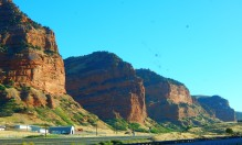 Stunning Utah cliffs as we approached Wyoming.