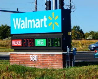 Walmart sold diesel at about the lowest price we'd seen so far...