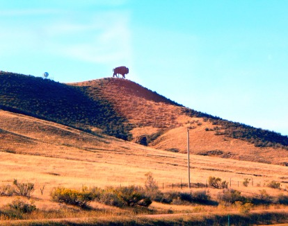 We were welcomed into Colorado by the usual bison silhouette.