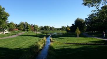 The beautiful nearby park where I enjoyed walking.