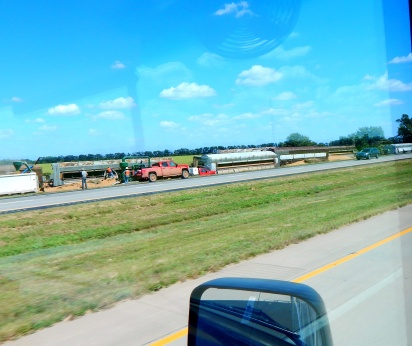 A train derailment of loaded grain cars. It was an awful mess.