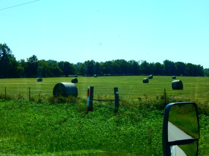 I think I have a hay field obsession - but really, isn't that a beautiful rural scene?!
