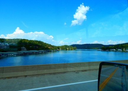 Lake of the Ozarks - it was huge and this doesn't begin to portray it.
