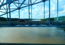 Crossing the Mighty Mo - the Missouri River. This lousy shot was the best I could do.