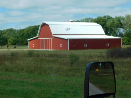 This pretty red barn looked like new.