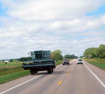 Sharing the road Nebraska style.