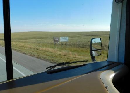 I drove through the Buffalo Gap National Grasslands.
