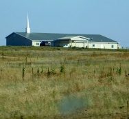 This is the Prairie View Methodist Church that sat atop a hill and was visible for miles due to the vast emptiness of the prairie.
