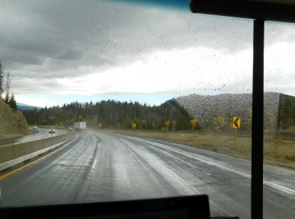Dropping down from the 6,385' Homestake Pass on a rainy day.