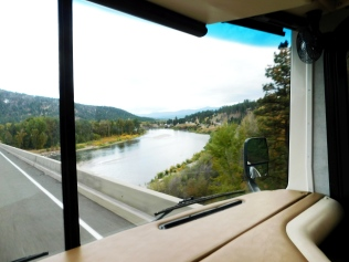 I-90 runs along the Clark Fork River for miles and crosses it time and time again for over 70 miles. This is one crossing I made.