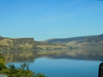 These mirror-like waters are very unusual along the usually windy Columbia Gorge.