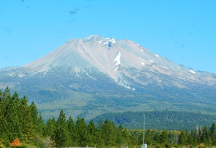 Mt. Shasta just wasn't her usual self after the long, hot summer. Pray for snow!